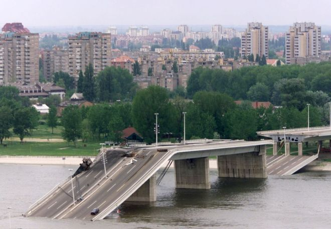 BRIDGE DESTROYED IN NOVI SAD